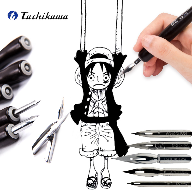 Tachikawa Cartoonist Saji/school G/D/Maru Nib Manga Fountain Pen  Dipping Marker Art Set For Comic Sketch