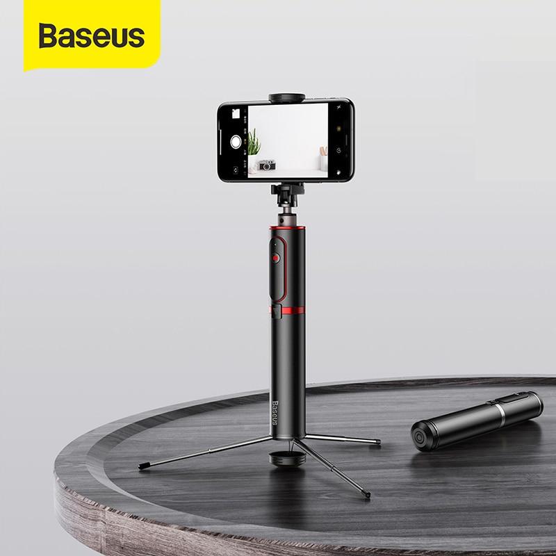 Baseus Bluetooth Selfie מקל נייד כף יד חכם טלפון מצלמה חצובה עם אלחוטי מרחוק עבור iPhone סמסונג Huawei אנדרואיד