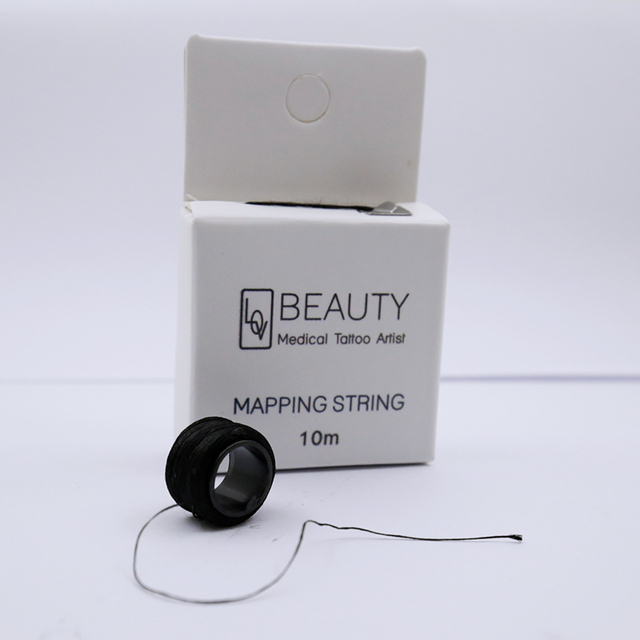 Microblading pre inked string brow mapping string Liners Thread Semi Permanent Positioning Eyebrow Measuring Tool permanent 2
