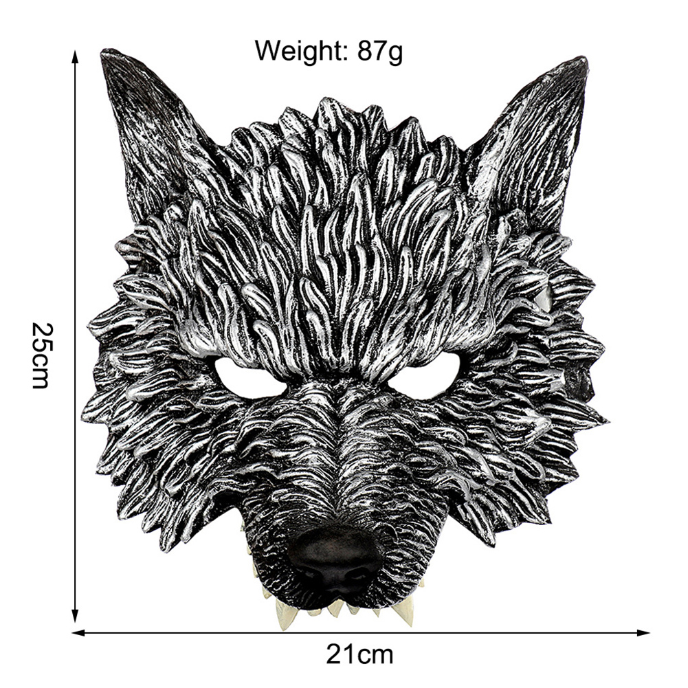 Halloween 3D Wolf Mask Party Masks Cosplay Horror Wolf Masque Halloween Party Decoration Accessories in Party Masks from Home Garden