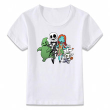 Kids Clothes T Shirt Nightmare Before Christmas Zero Best Friends Forever Artwork Boys Girls Toddler Tee(China)