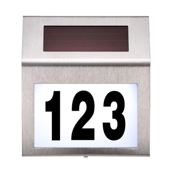 Solar Door Numbers Sign LED Lights House Number LED Address Digital Signage Light House Number Outdoor Durable Doorplate Lamp custom house number acrylic house sign with house number