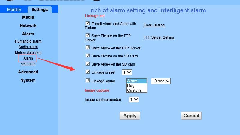 pc alarm settting