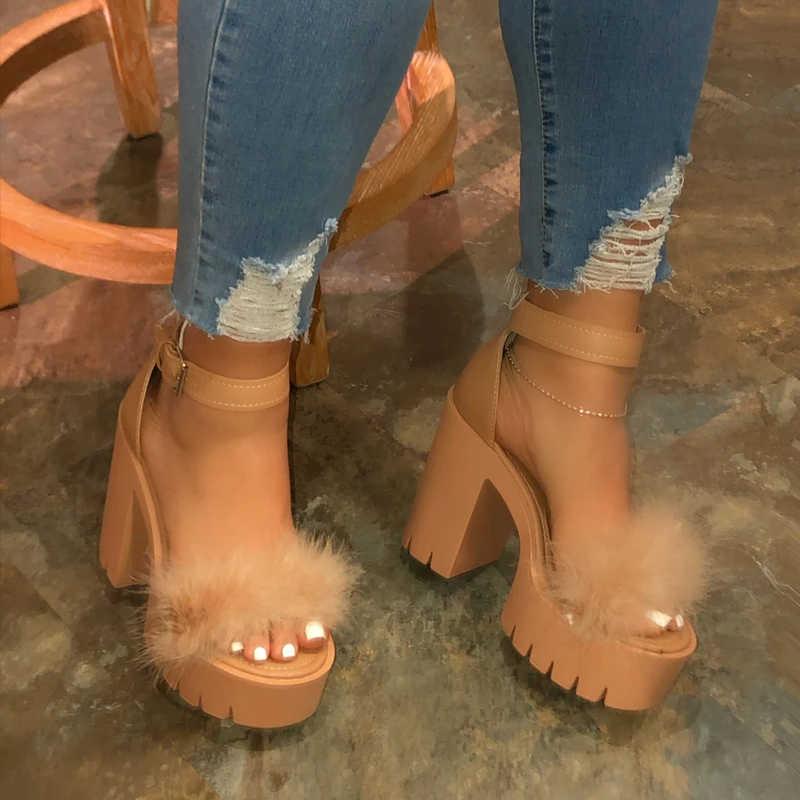 Heflashor Mùa Hè 2020 Đáy Dày Nền Tảng Giày Sandal Nữ Dày Với Dép Giày Đế Xuồng Nữ Femme Giày Cao Gót Giày