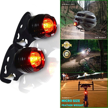 2 Pack Bike Bicycle Red LED Rear Light 3 modes Waterproof Tail Lamp Black Hot Bike Accessories Safety Warning Light With Battery image