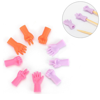 6pcs/lot Knitting Needles Point Protectors Needle Tip Stopper For DIY Weave Knitting And Sewing For Mom Sewing Tools Accessories image