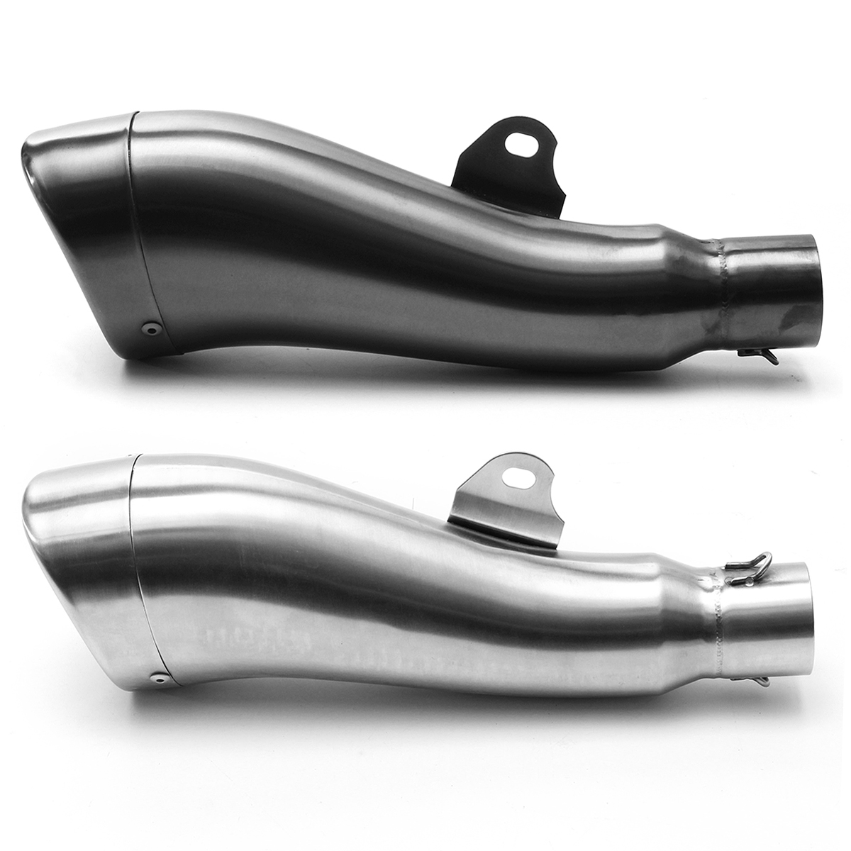 36-51mm Dolphin Shape Motorcycle Motorbike ATV Stainelss Steel GP Exhaust Muffler Pipe Slip-On Trumpet Type Universal For Honda