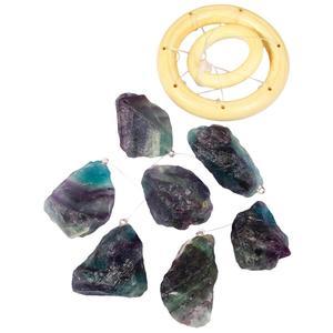 Image 4 - TUMBEELLUWA coloré pierres brutes carillons de vent en cristal maison décoration de jardin 17 21 pouces