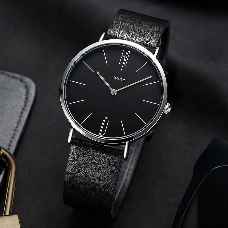 YAZOLE New Quartz Watch Men Watches Business Simple Style Wristwatch PU Leather Male Wrist Watch For Men Clock Hours Hodinky Man