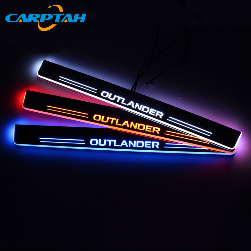 Trim Pedal Car Exterior Parts LED Door Sill Scuff Plate Pathway Dynamic Streamer light For Mitsubishi Outlander 2 3 XL 2005 2018 Nerf Bars & Running Boards     - title=