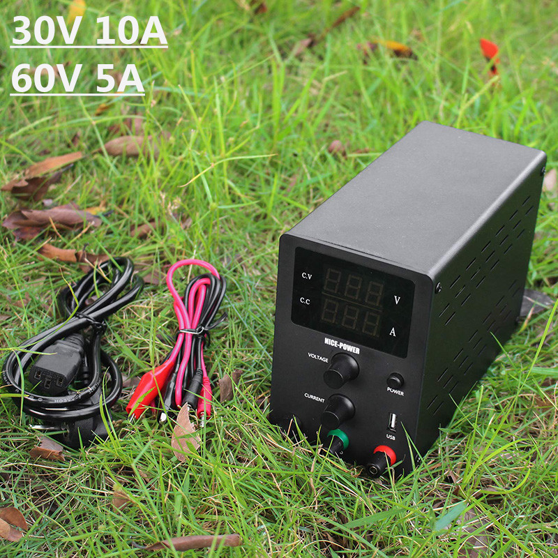 New Black Mini 30V 10A 60V 5A <font><b>DC</b></font> Switching Adjustable Power <font><b>Supply</b></font> Voltage Regulated Bench Source Suitable For Phones <font><b>30</b></font> <font><b>V</b></font> image