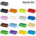 Grundlegende Ziegel 2x4 10 teile/los DIY Klassische Bildung Bausteine Kompatibel Mit Lego Große Ziegel kunststoff Spielzeug Für kinder