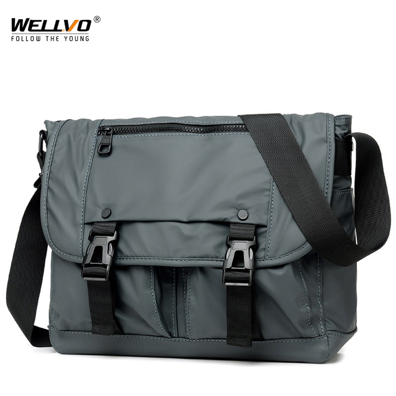 Men's Fashion Nylon Crossbody Bag Multifunctional Male Shoulder Messenger Bags Large Satchels Business Bolsa Masculina XA292ZC
