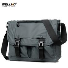 Mens Fashion Nylon Crossbody Bag Multifunctional Male Shoulder Messenger Bags Large Satchels Business Bolsa Masculina XA292ZC