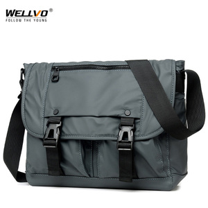 Image 1 - Mens Fashion Nylon Crossbody Bag Multifunctional Male Shoulder Messenger Bags Large Satchels Business Bolsa Masculina XA292ZC