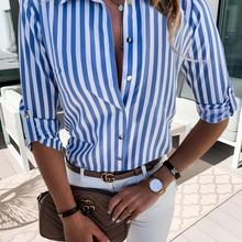 2020 Striped Shirt Women Blouses Summer