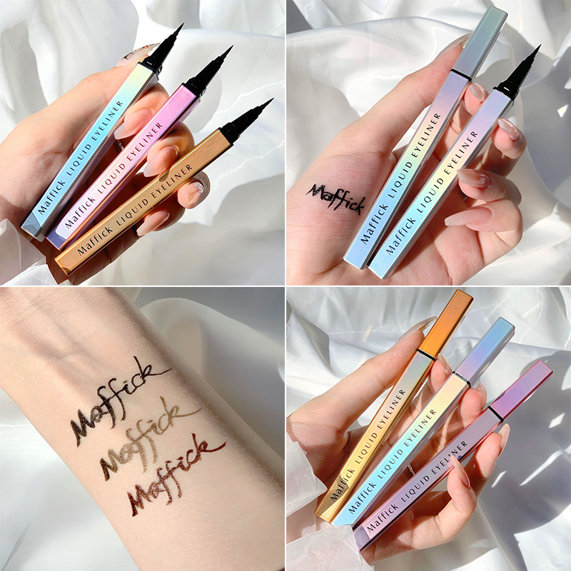 Eye Shadow Liner Combination cosmetics Black Pen Waterproof Is Not Blooming Eyeliner Pen Quick drying Eyeliner Colorful Effect