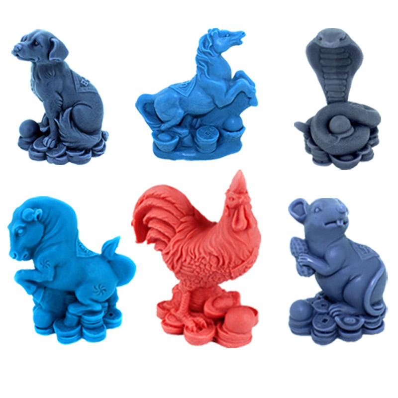 12 Zodiac Silicone Soap Mold Craft Resin Salt Carving Mould