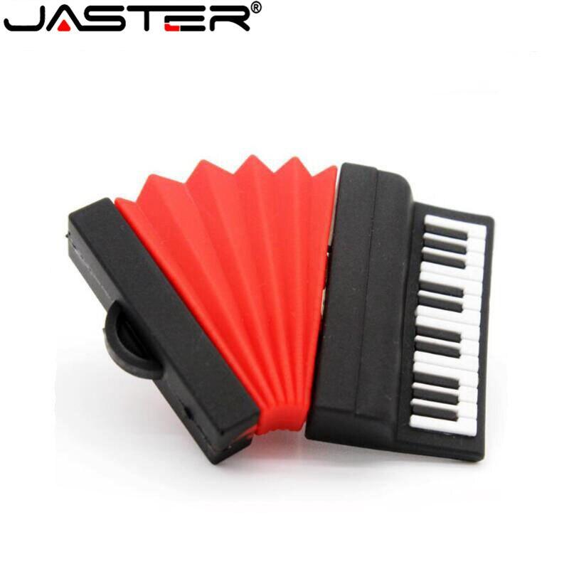 JASTER Accordion USB Flash Drive USB 2.0 Pen Drive Minions Memory Stick Pendrive 4GB 8GB 16GB 32GB 64GB New Gift