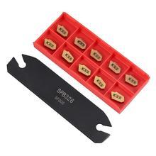 4 шт. хвостовик токарный станок токарный инструмент держатель расточные стержни 12 мм+ 10 шт. карбидные вставки лезвия