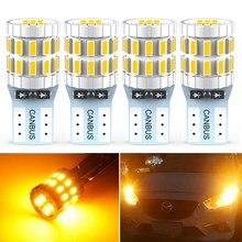 4x في Canbus W5W LED T10 سيارة LED الداخلية أضواء وقوف السيارات لمرسيدس بنز w204 w203 w211 w219 w124 w202 w210 w205 w220 w164 البرتقال