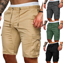 2019 New Shorts Men Hot Sale Casual Beach Shorts Homme Quality Bottoms Elastic Waist Fashion Cotton Casual Male Shorts D30 недорого