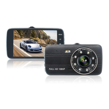 Multifunctional Driving Recorder Dual Lens 3.8/4 Inch Ips Wide Angle HD 1080p With Night Vision Fill Light