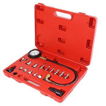 Diesel Engine Cylinder Compression Tester Kit Pressure Gauge+Adapter Set