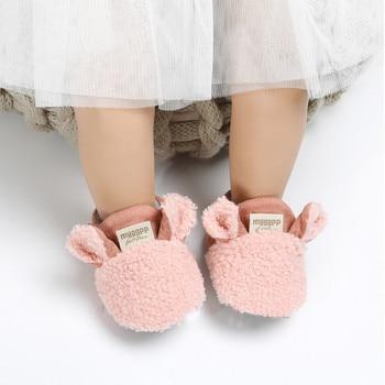 Toddler Girl Snow Boots Shoes Newborn Baby Autumn Winter Cotton Warm Soft Sole Plush Prewalker Baby Shoes цена 2017