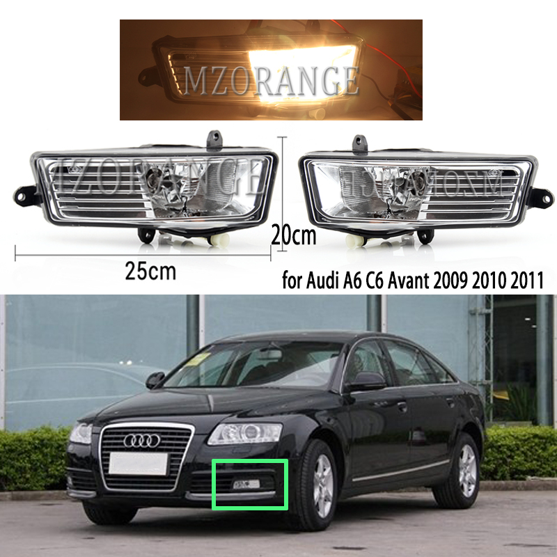 halogen fog light Car Front bumper Fog Lights DRL fog lamp day light headlights fog Lamps for Audi A6 C6 Avant 2009 2010 2011 image