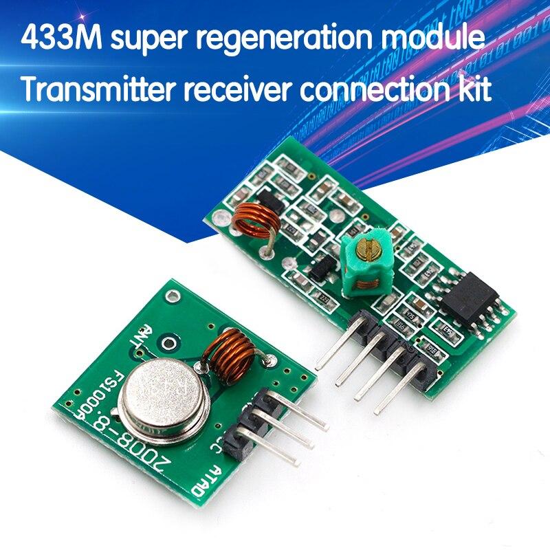 315 433 МГц 315 МГц 433 мгц радиочастотный передатчик и приемник Link Kit для Arduino модуль беспроводного дистанционного управления Модуль напряжения
