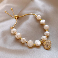 Personality shell pearl bracelet lady elegant temperament bracelet trend natural pearl accessories