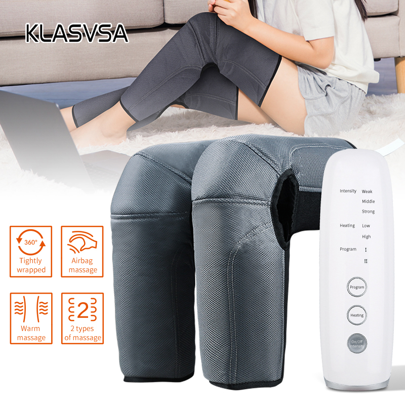 Leg Air Compression Massager Heated for Thigh Knee and Calf Circulation 3 Intensities 2 Modes 2 Temperatures Massage Relaxation|Leg Massage Apparatus| - AliExpress