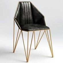 Новинка, металлический стальной стул для отдыха, стул из железной проволоки, полый обеденный кофейный металлический барный стул, мебель для гостиной, 2 стиля