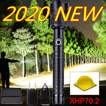 200000lm portable XHP70.2 LED Flashlight Tactical Waterproof