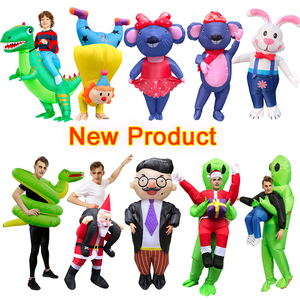 Image 1 - New Inflatable Costume green alien Adult Kid Funny Blow Up Suit Party Fancy Dress Unisex Costume Halloween Costume for Women Men