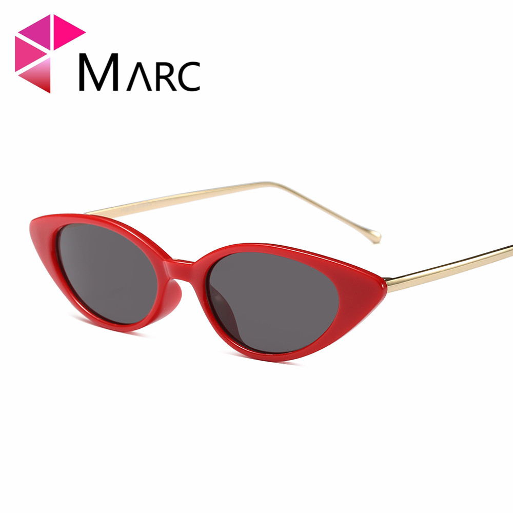 MARC Cat eye NEW arrive WOMEN sunglasses fashion Black oculos eyewear Plastic Fashion glasses small Green