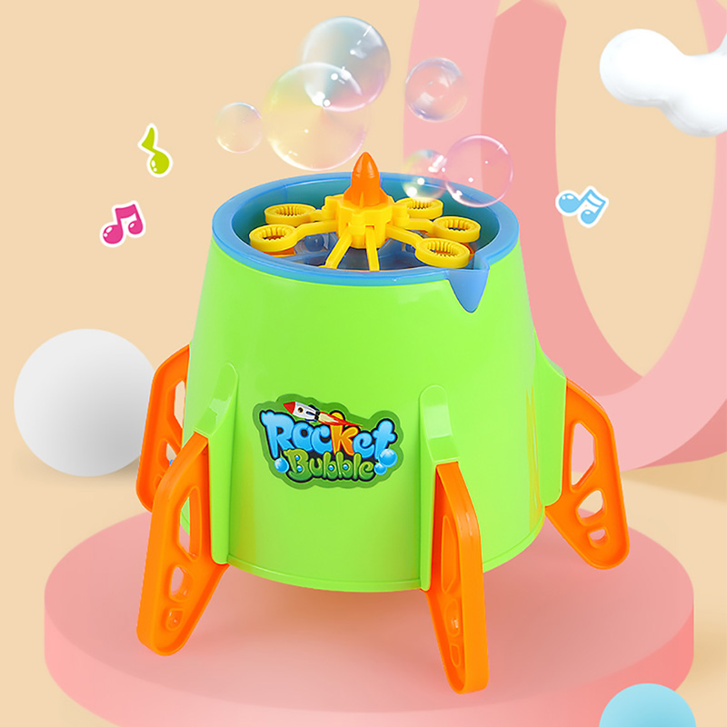 Bubble Toys Colorful New Funny Magic Bubble Machine Automatic Bubble Maker Toys Baby Music Electric Outdoor Toys For Children