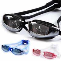 Galvanik UV Wasserdichte Anti nebel Bademode Brillen Schwimmen Tauchen Wasser Gläser Einstellbar Schwimmen Brille Männer Frauen