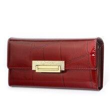 Kadın cüzdan marka tasarım yüksek kalite deri cüzdan lüks taş desen kadın debriyaj uzun para kart tutucu cüzdanlar
