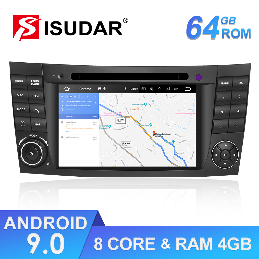 Isudar ROM 64GB 2 Din Android 9 Auto Radio For <font><b>Mercedes</b></font>/Benz/E-Class/<font><b>W211</b></font>/CL Car <font><b>GPS</b></font> Multimedia Octa Core RAM 4GB DVD DVR DSP FM image