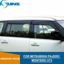 Side window deflectors For MITSUBISHI PAJERO MONTERO V73 Window Visor Vent Shade Sun Rain Deflector Guard Car Styling SUNZ