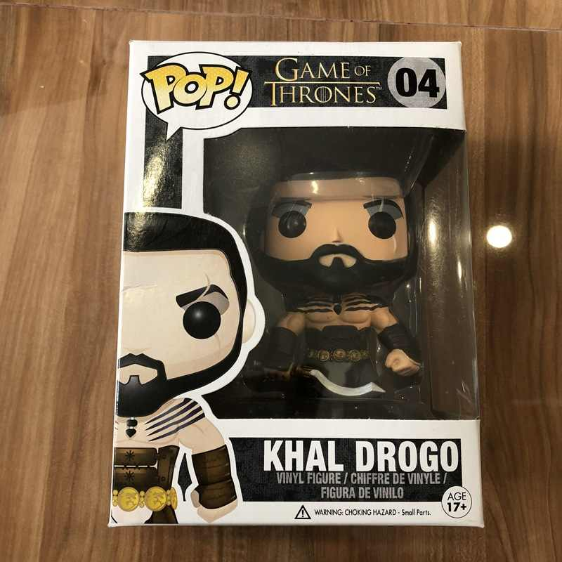 Official Funko pop Game of Thrones-Khal Drogo ไวนิล Action Figure รูปที่สะสมของเล่นที่มีกล่อง