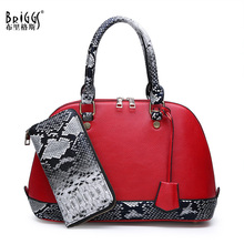 BRIGGS Vintage Shell Bags Womens Handbags Famous Brands Ladies Hand Bag Designer Quality For Women 2019 +Wallets