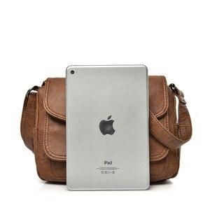 Image 5 - Duas tampas das mulheres do vintage saco de 2019 bolsas de luxo mulheres sacos designer de couro Macio feminino Saco pequeno mensageiro Bolsa de Ombro Aba