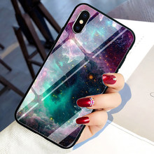Hot Moon Space Map Tempered Glass Phone cover case for iphone 5 5S SE 6 6S 7 8 plus X XR XS 11 Pro Max(China)