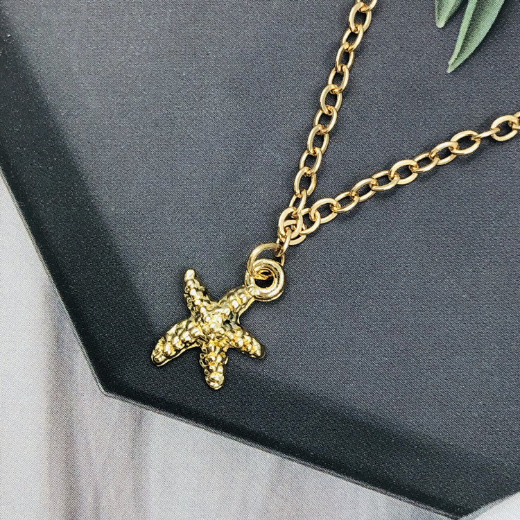 Fashion Starfish Necklace Five-pointed Star Pendant Simple Glorious Choker