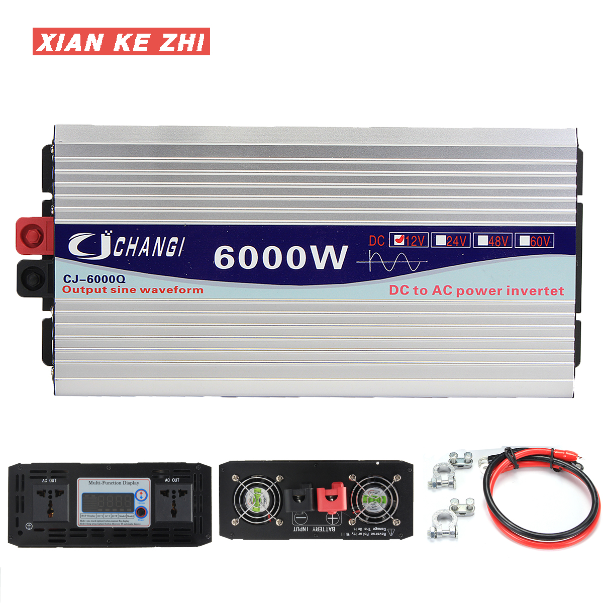 <font><b>Inverter</b></font> <font><b>12V</b></font> <font><b>220V</b></font> 3000 W/4000 W/5000 W/6000 W Intelligente Spannung transformator Reine sinus Solar Power <font><b>Inverter</b></font> 12 V/24 V Zu <font><b>220V</b></font> image
