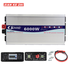 цена на Inverter 12V 220V 3000W/4000W/5000W/6000W Intelligent Voltage transformer Pure Sine Wave Solar Power Inverter 12V/24V To 220V