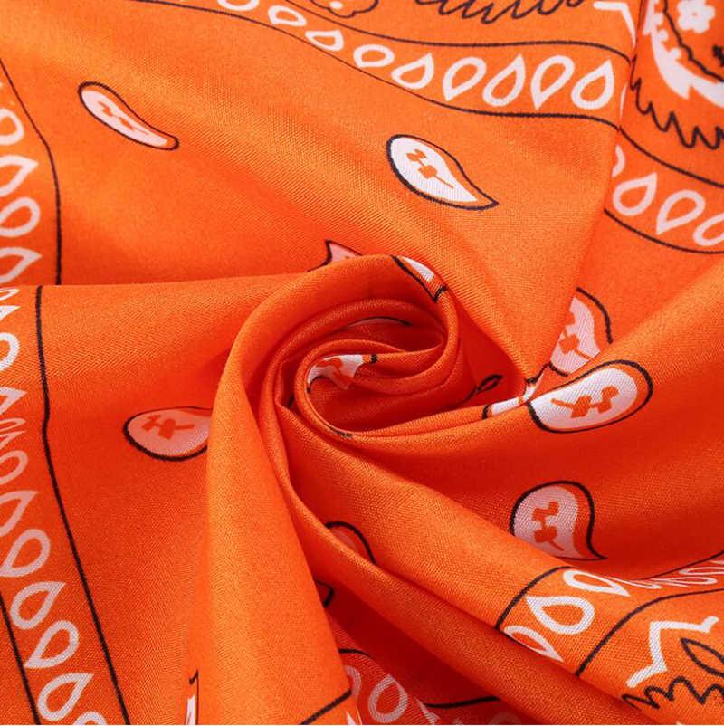 Pañuelo de algodón 100% nueva moda pañuelo de hip hop cuadrado bufanda 55cm * 55cm negro rojo Paisley diadema impresa para mujeres/hombres/niños/niñas